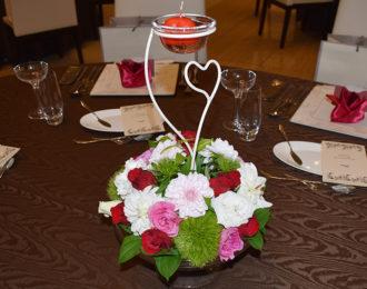 結婚式の卓上装花