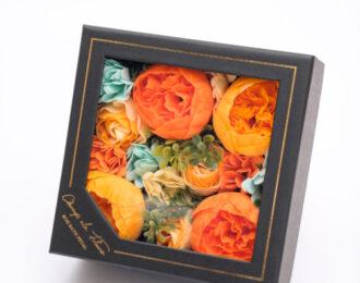 母の日シャボンフラワーボックス(オレンジ)